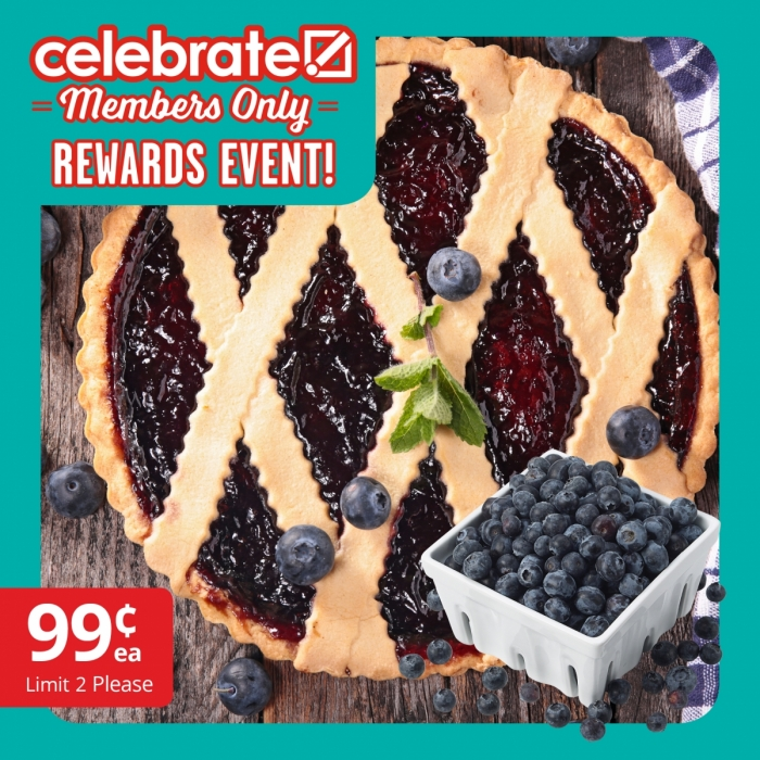 Celebrate Rewards Event Blueberries