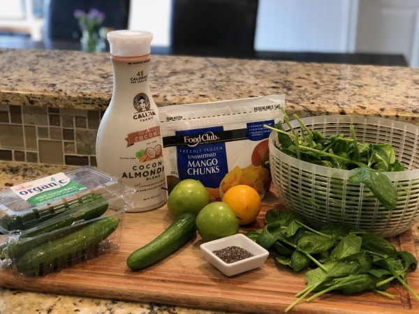 Healthy Shamrock Smoothie Ingredients