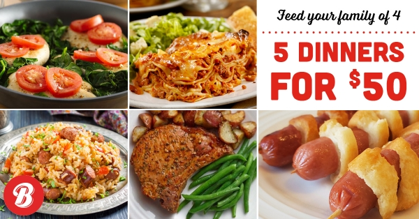 5 Meals for $50