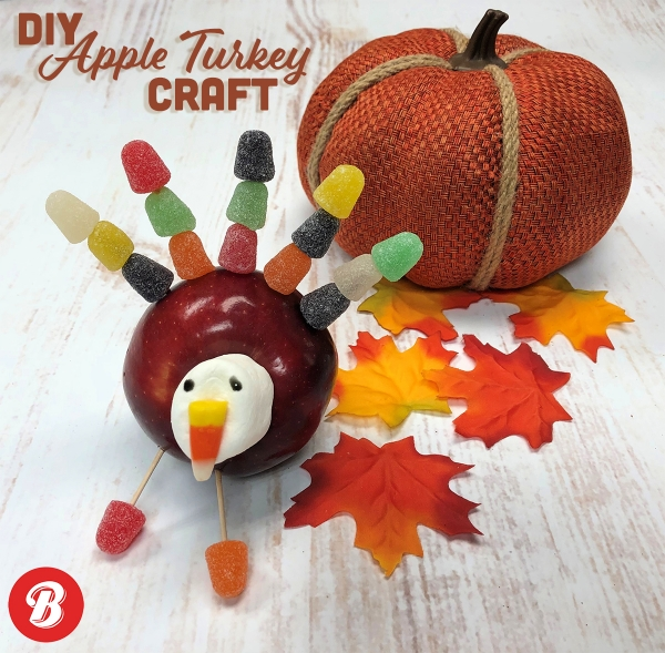 DIY Apple Turkey Craft