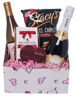 A Toast for My Valentine Gift Basket