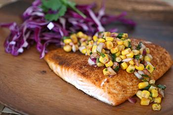 Hawaiian foods week recipes brookshire brothers blackened salmon w roasted corn salsa forumfinder Image collections