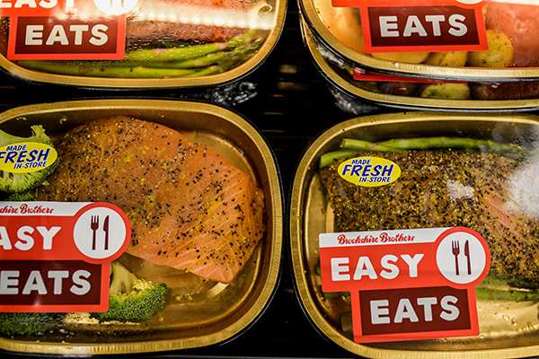 Four trays of Easy Eats meals in the new Huntsville deli