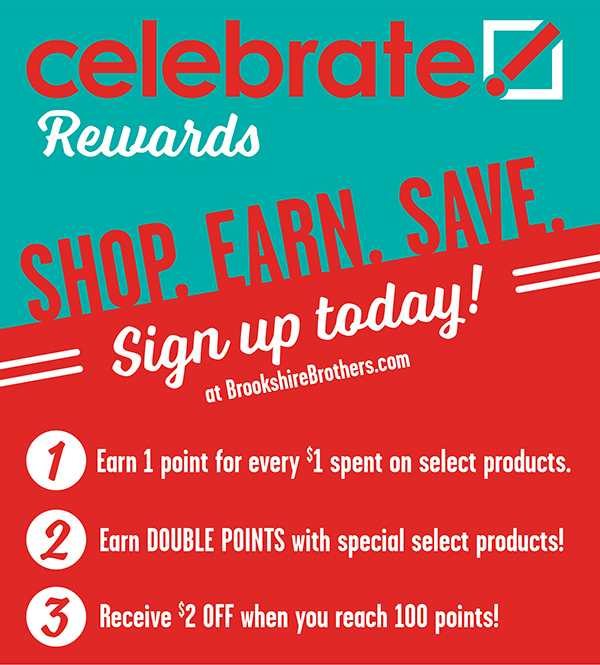A graphic block describing how you can save with Celebrate Rewards.