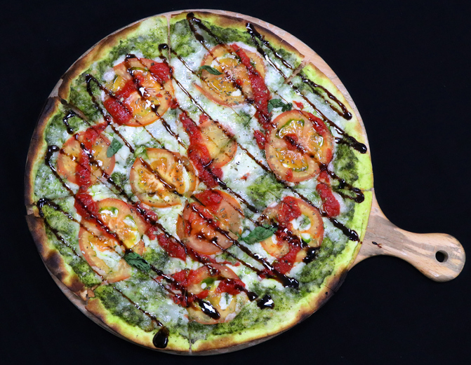 Flatbread Pizzas with Pesto and Sun-Dried Tomatoes