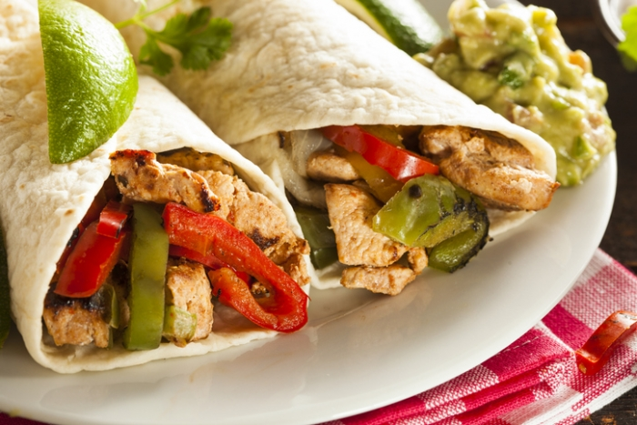 Chicken Fajitas with a lime