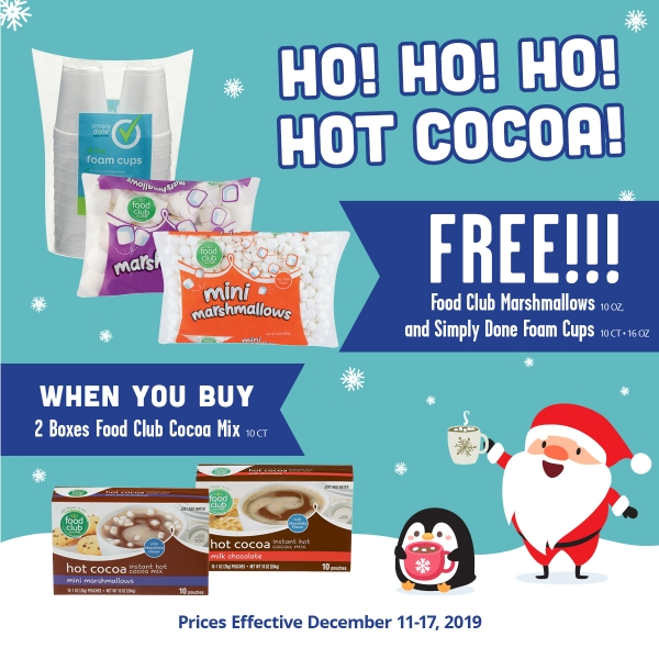 Food Club Hot Chocolate Deal