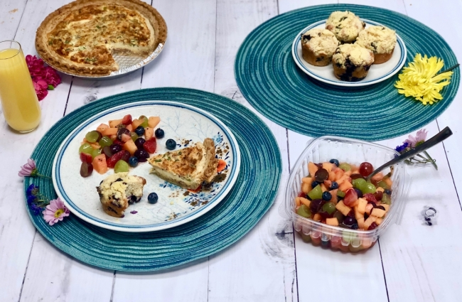Ultimate Blueberry Streusel Muffins, Honey Lime Fruit Salad, Quick Breakfast Quiche