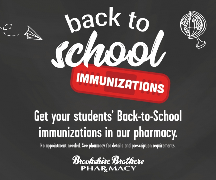 Back to School Immunizations at Brookshire Brothers