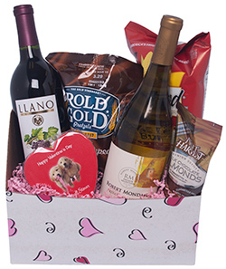 Red, White and Sweet on you Gift Basket
