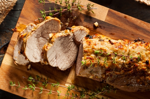 Roasted Garlic Pork Tenderloin