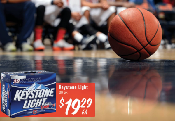 ON SALE: Keystone Light 30 pk